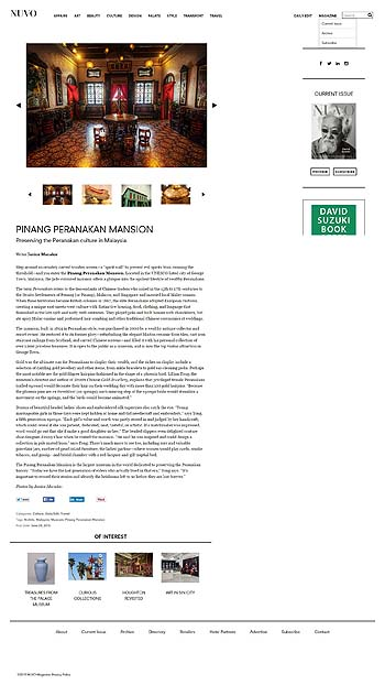 'Pinang Peranakan Mansion NUVO Magazine'