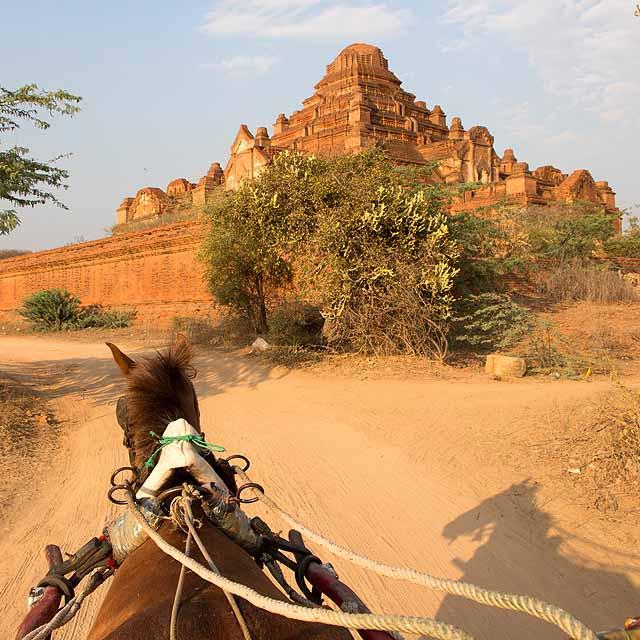 View from horsecart, Bagan
