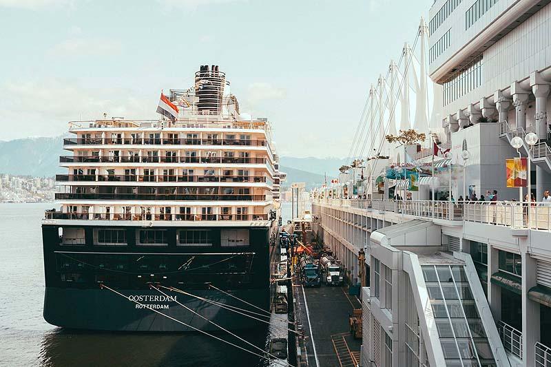 Vancouver patios - cruise ship dock