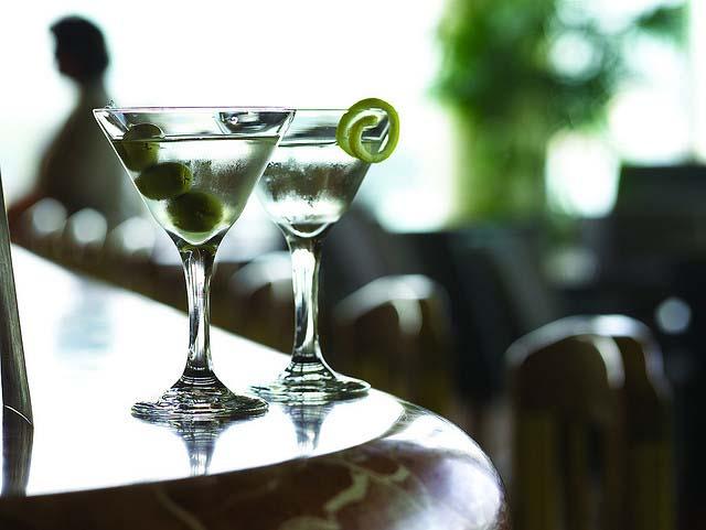 Vancouver patios - martinis