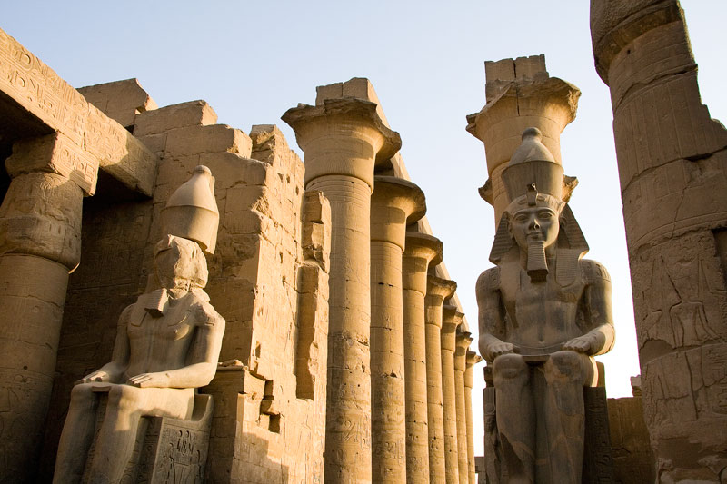 You see the Temple of Luxor on a Nile River cruise