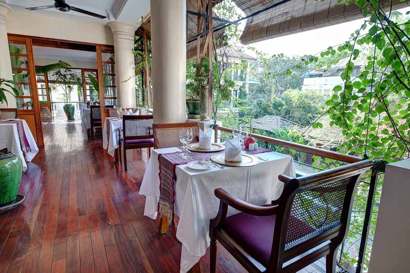 Savoy hotel Yangon - terrace