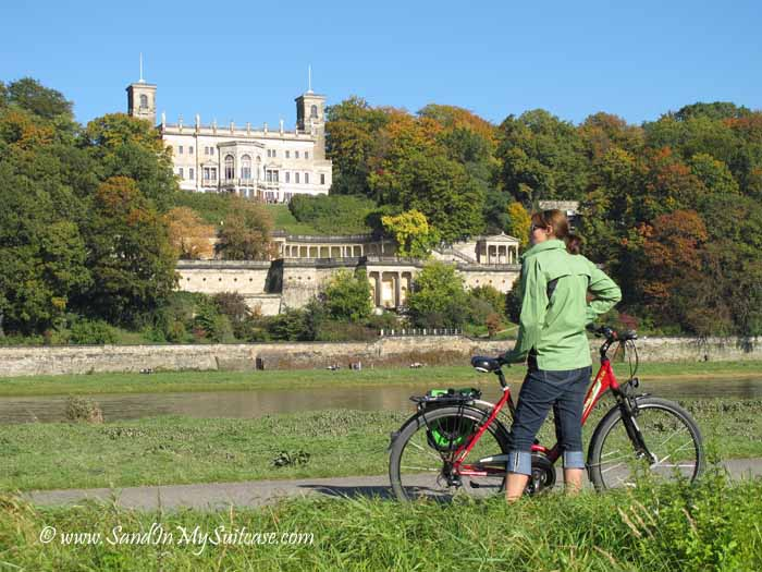 Dresden attractions - bicycling Elbe River