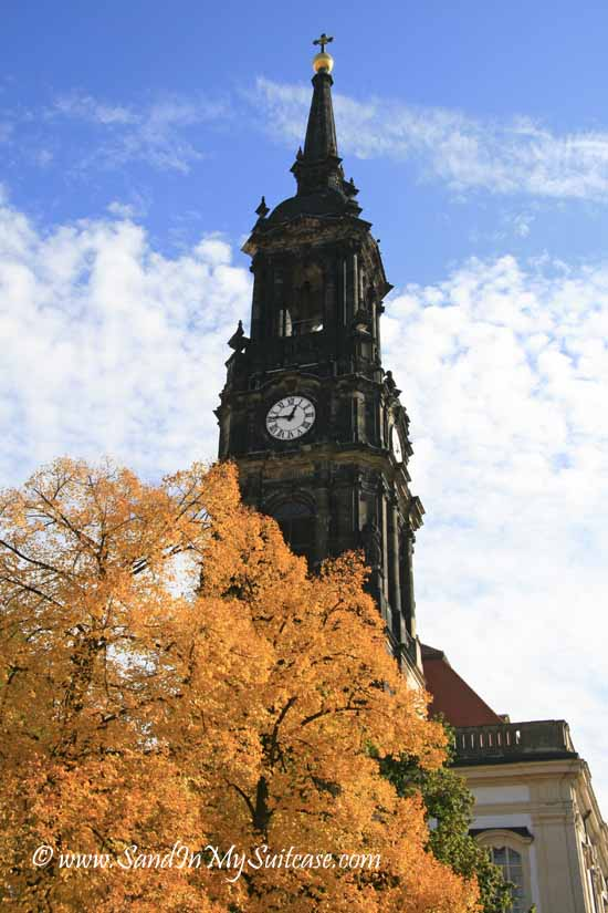 Dresden attractions - clock tower