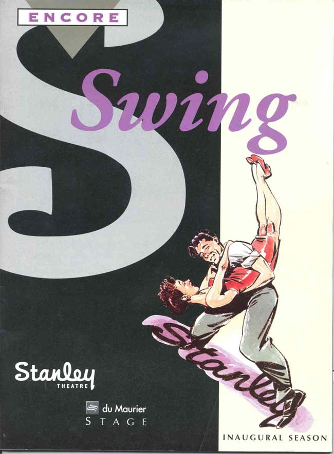 Stanley Theatre Vancouver - Poster for Swing production - photo Arts Club