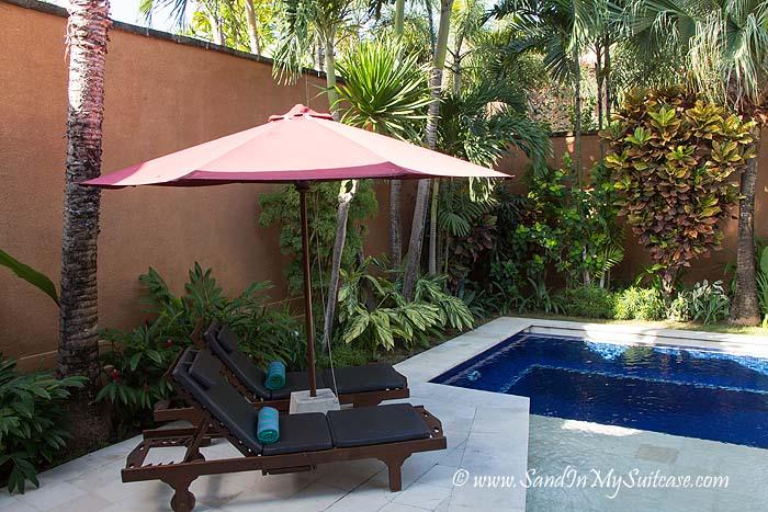 Pool of our villa at The Kunja