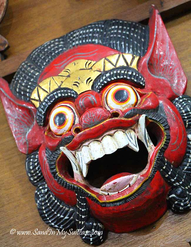 One little rural art shop sold Balinese masks like this