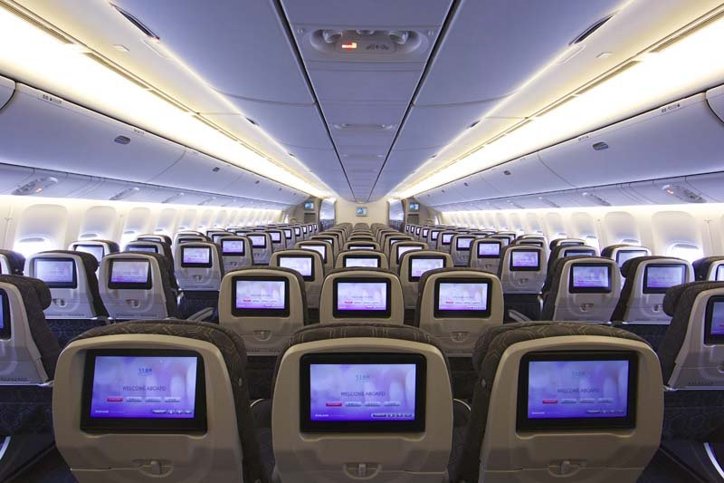 EVA Air Economy review: Some Economy Class cabins only have 9 seats in a row.