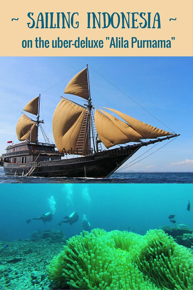 Sailing Indonesia on the deluxe Alila Purnama
