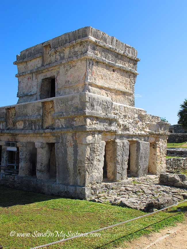 mayan ruins of tulum - temple of the frescoes