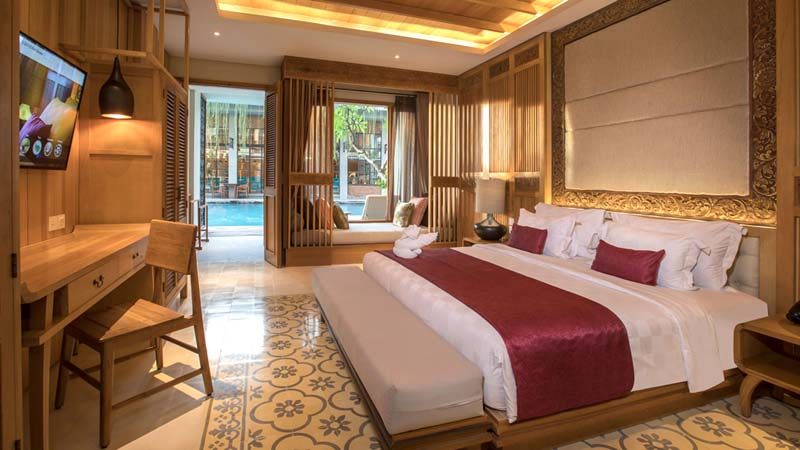 Bali surf hotel: The Haven Suites Berawa