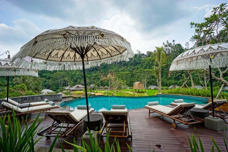 Pool view at Mandapa