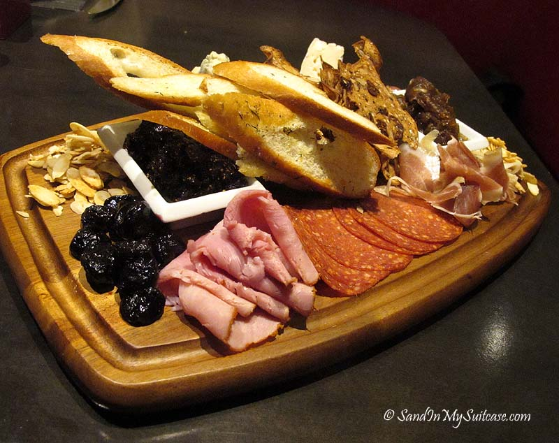 Cheese and charcuterie at the Lobby