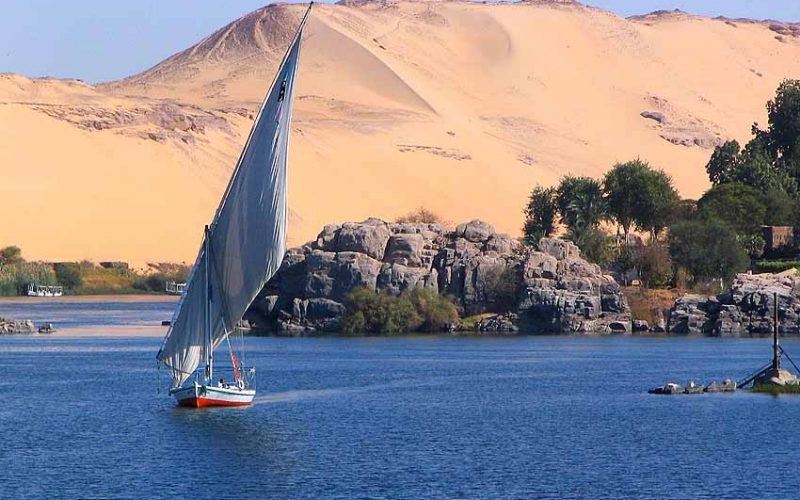 egyptian feluccas