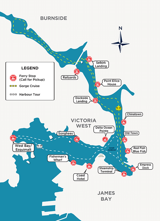 Harbour Ferries Victoria map