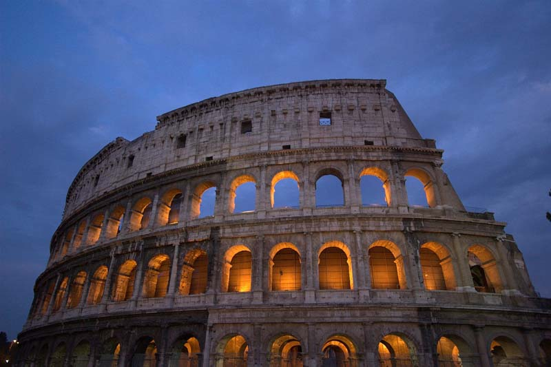 Yes, we'd like to fly to Rome and see the Colosseum!