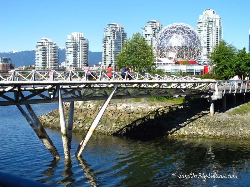biking stanley park - science world