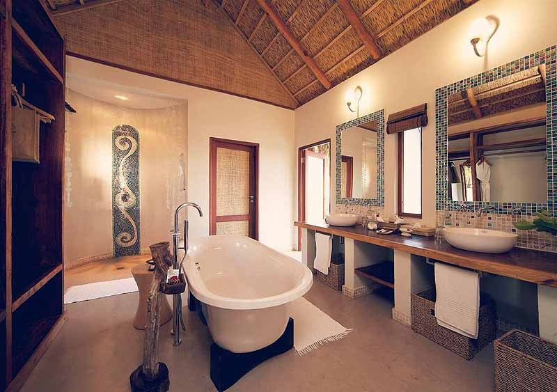 best hotel bathrooms - Azura Benguerra Island