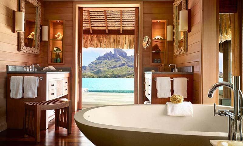 best hotel bathrooms - four seasons resort bora bora