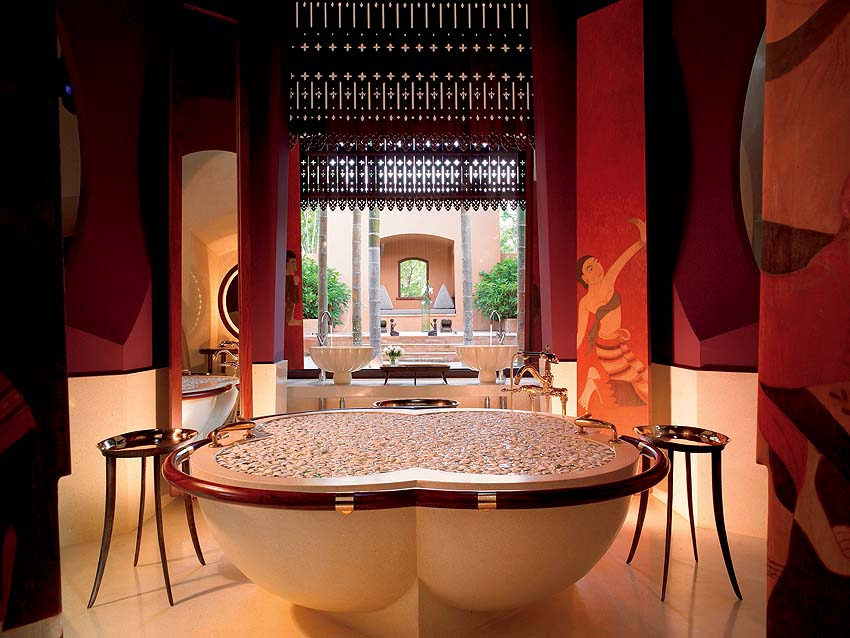 The best hotel bathrooms in the world include Phulay Bay, a Ritz-Carlton Reserve