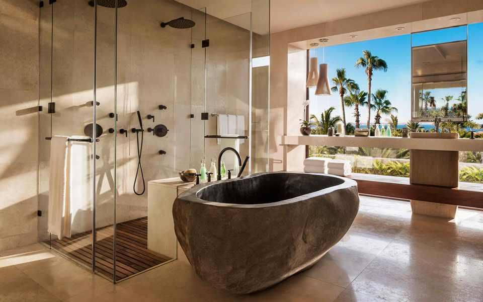 Villa One master bathroom at One and Only Palmilla