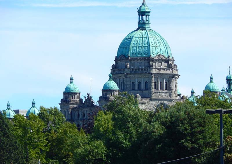 Things to do in Victoria, BC: See the Legislative Building lit up at night