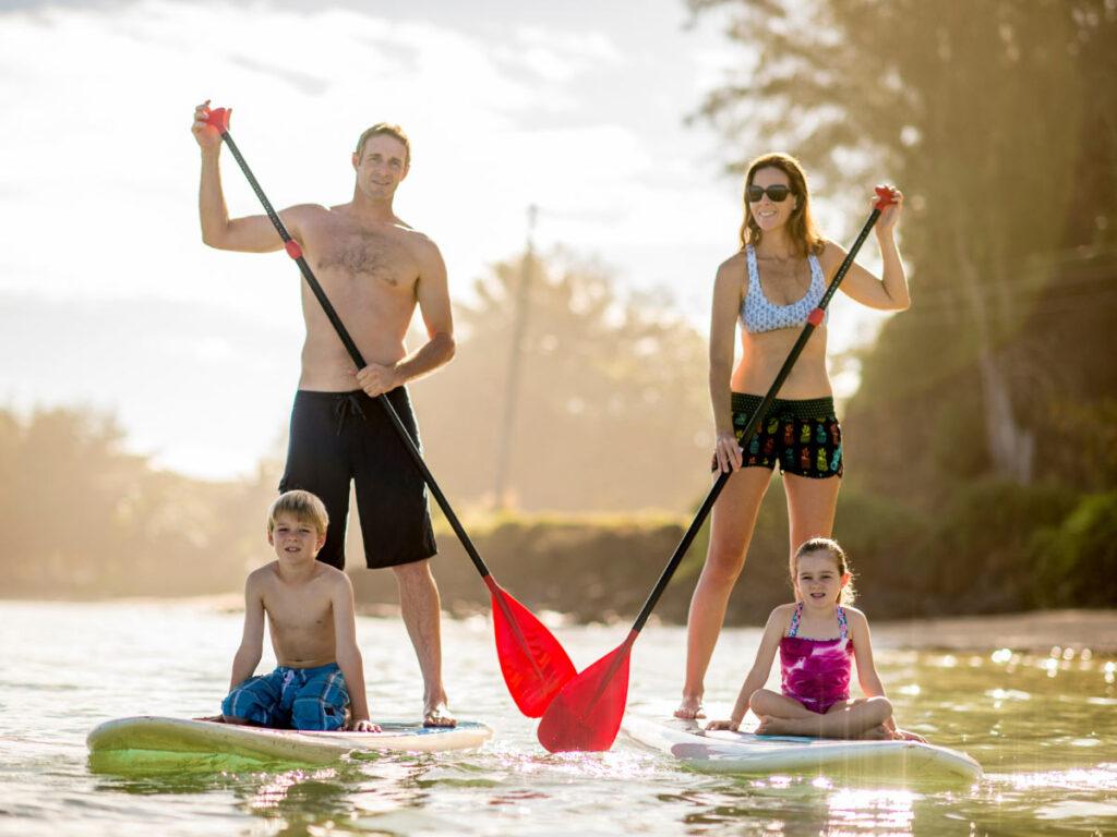 Standup paddle boarding in Kauai