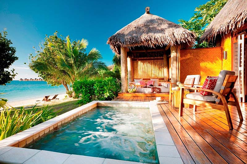 Villa resorts with private pools: Likuliku Lagoon Resort in Fiji