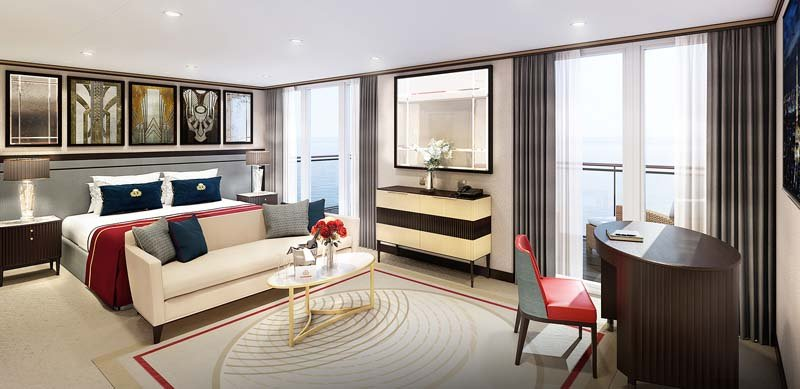 There's lots of space in a Cunard Queens Grill suite!