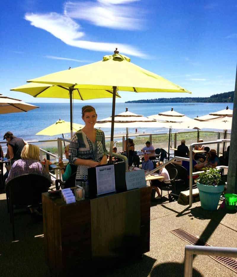 best beaches in victoria - The Beach House patio