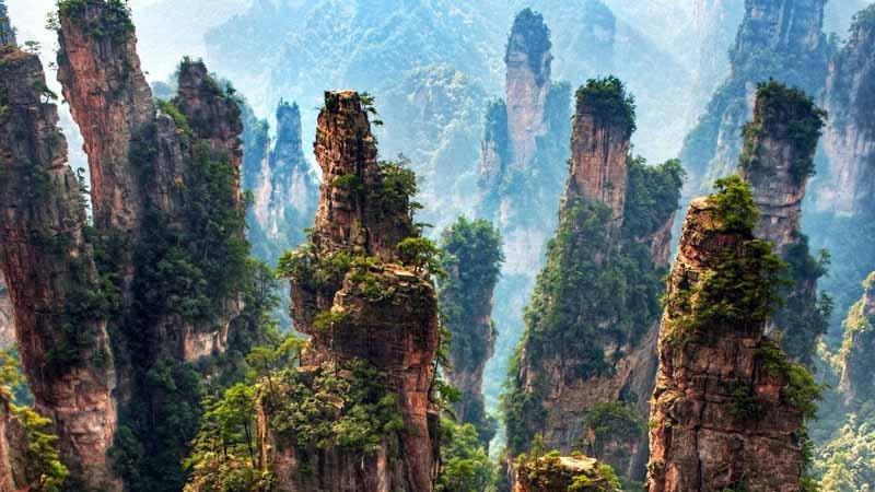 Hallelujah Mountains in Zhangjiajie