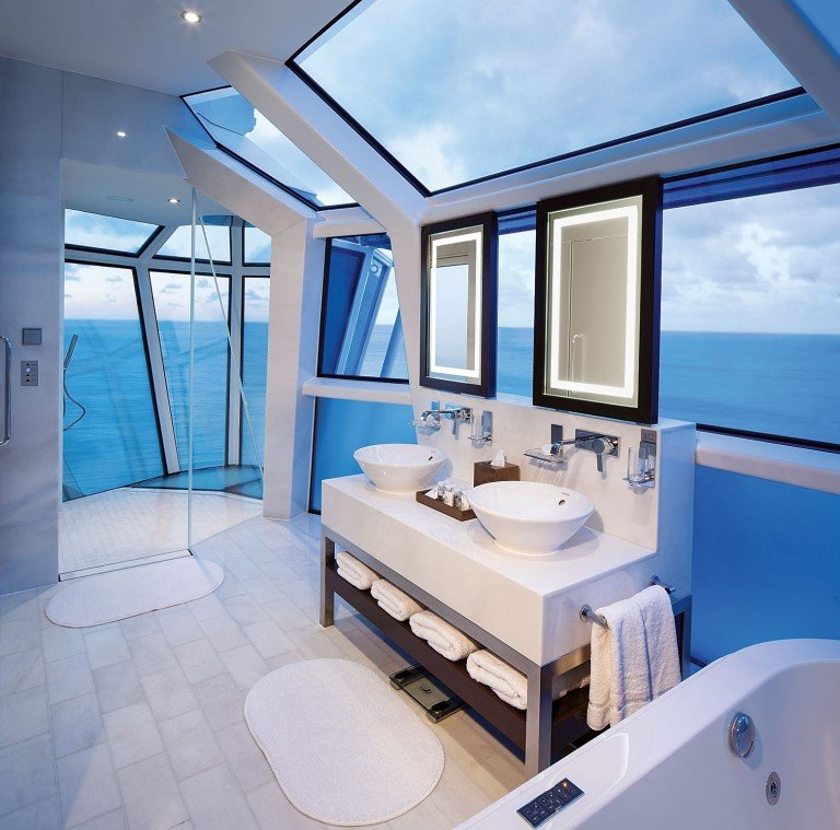 Celebrity suite class bathroom (Reflection suite)