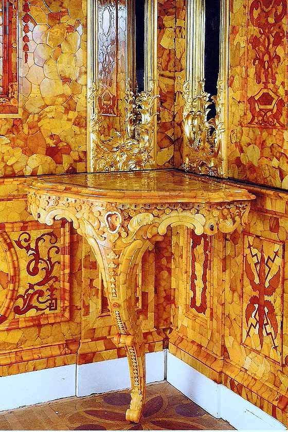 The Looted Amber Room at Catherine Palace