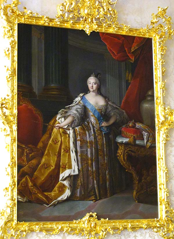 Picture of Empress Elizabeth at Catherine Palace, St. Petersburg