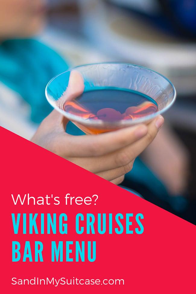 Viking Cruise bar menu