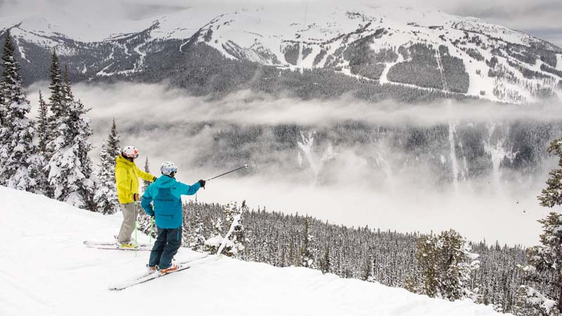 Whistler or Blackcomb skiing