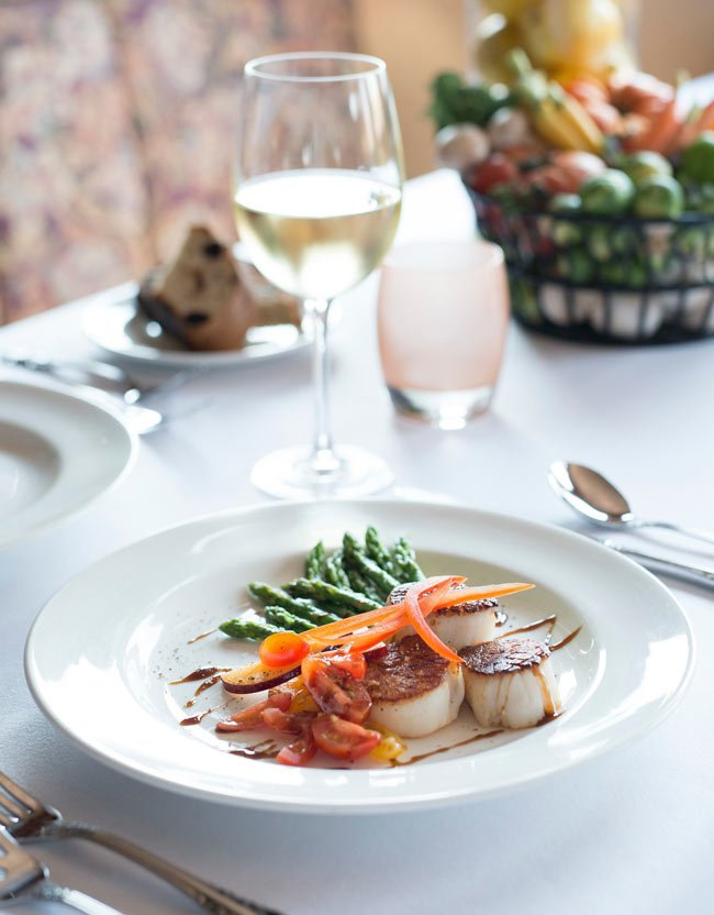 Scallops for dinner on Hawaii UnCruise