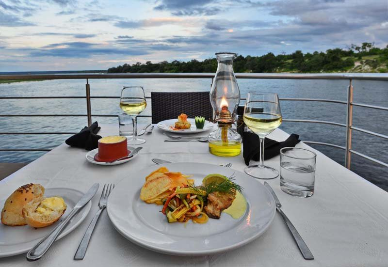Chobe Princess dinner