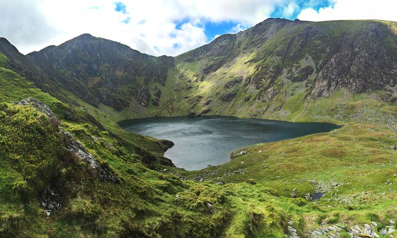 You can swim in Llyn Cau - but it's a long walk to get there!