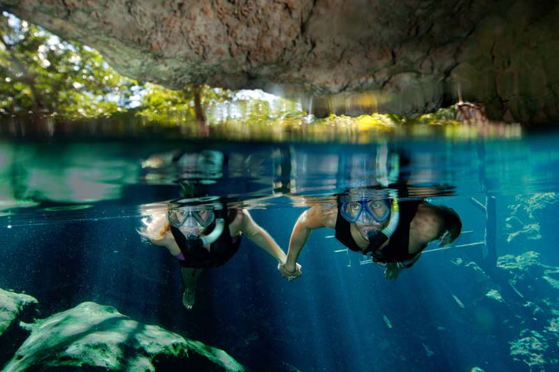 In Mexico's Riviera Maya, the cenotes are magical places to swim
