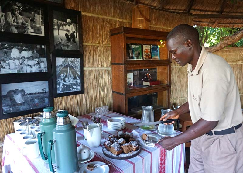 Afternoon tea at Luwi Bush Camp, Zambia