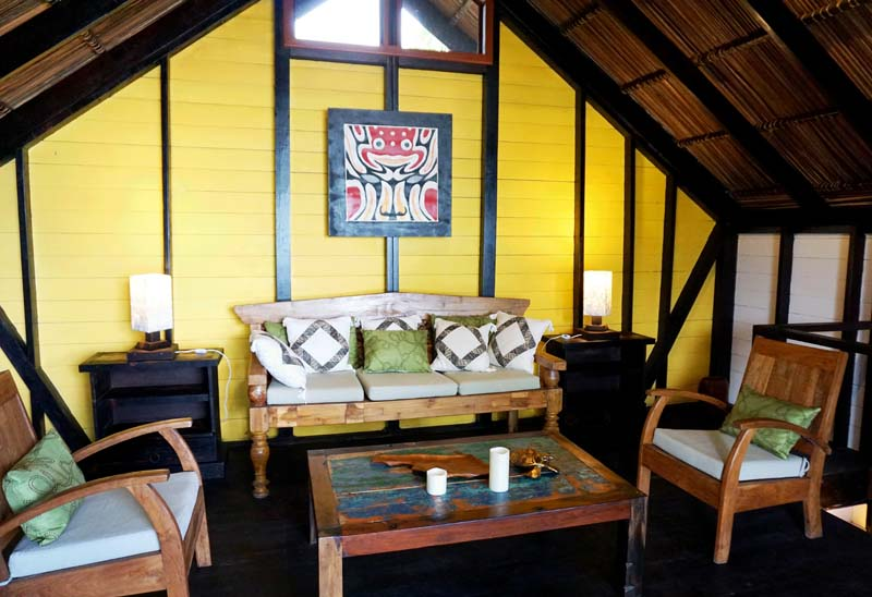 The second story of the luxury beachfront site at Island Plantation,  Bocas del Toro, has its own living area