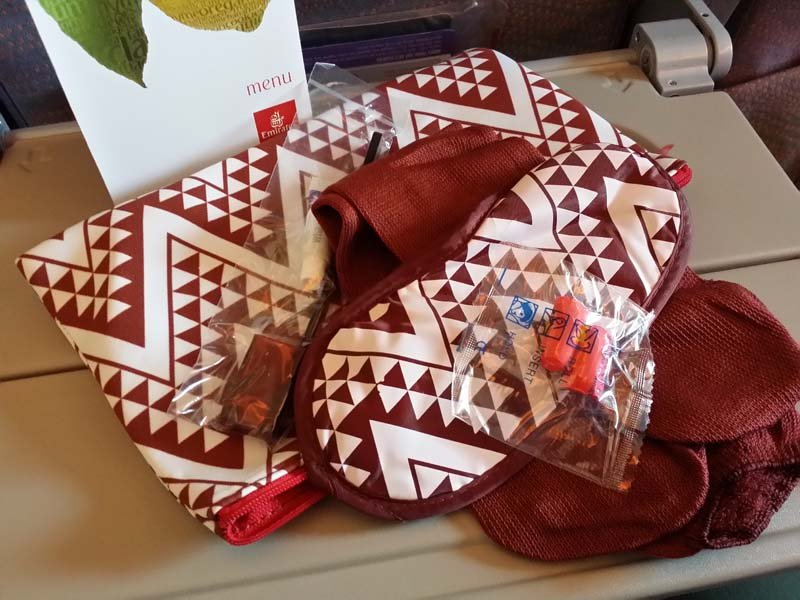 Emirates Economy amenity kits