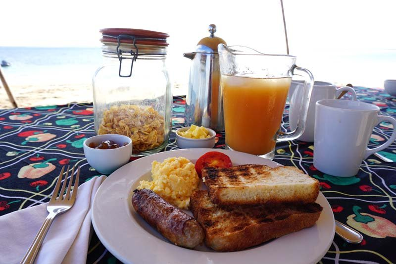 Sandbar breakfast from Ibo Island Lodge