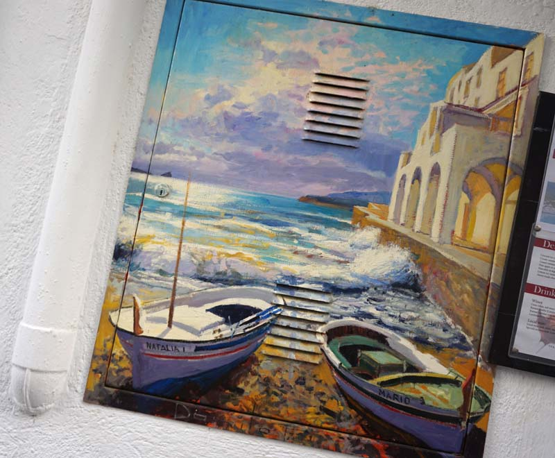 Cadaques painted electrical panel