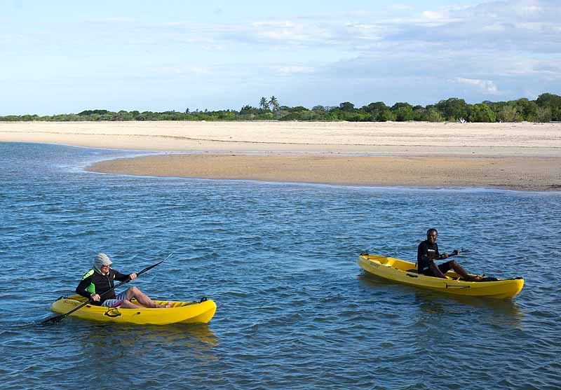 Kayaking at Diamonds Mequfi Beach Resort, Mozambique