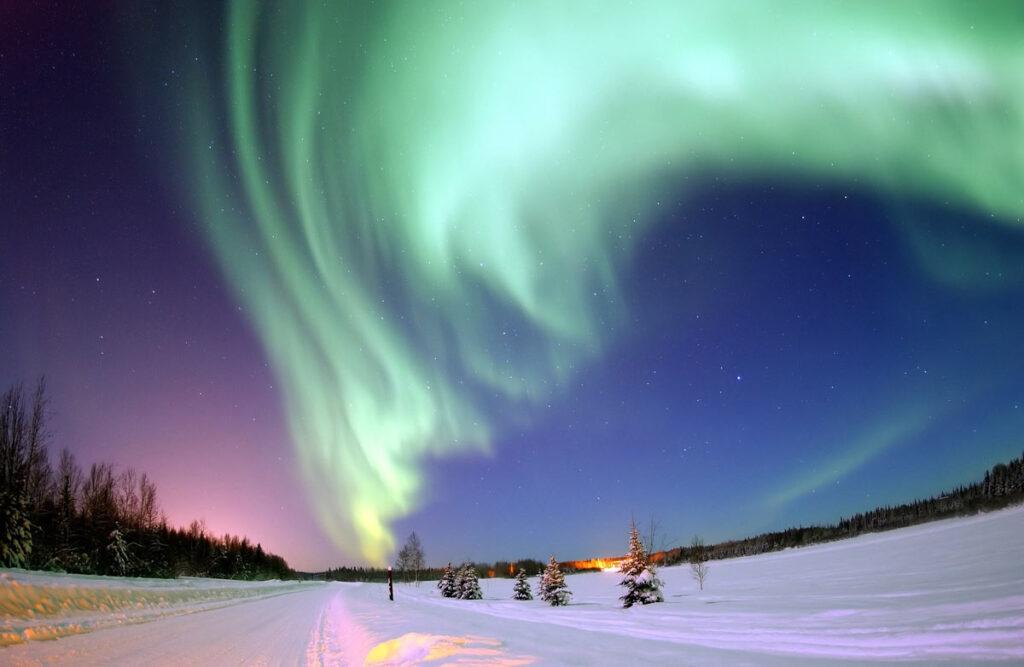 Northern lights in Alberta