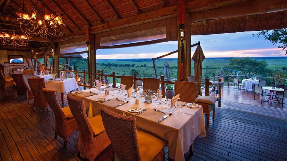 ngoma safari lodge dining room