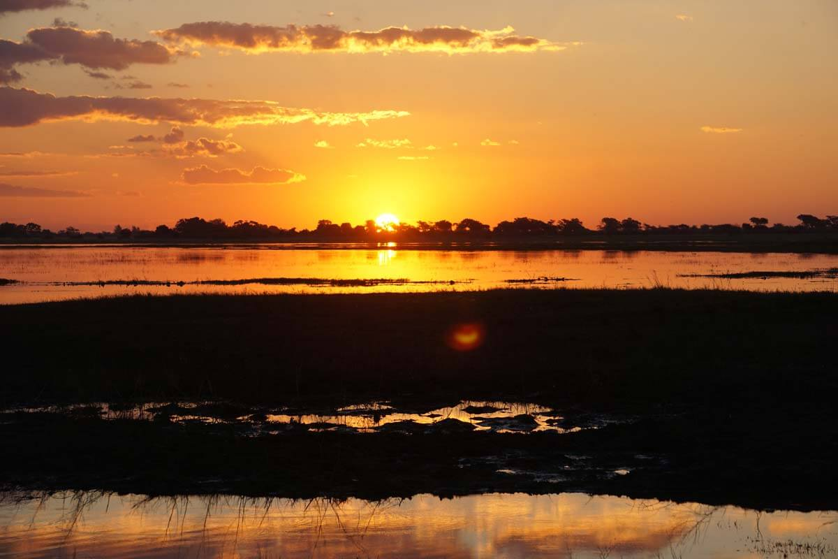 Another magnificent sunset over the Chobe River