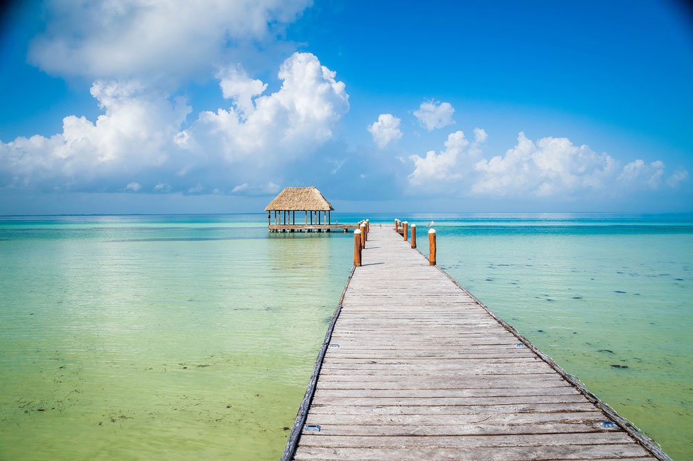 Isla Holbox boasts undeveloped beaches and a very laid-back vibe. And you can swim with whale sharks there too!